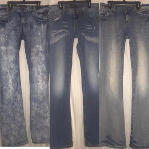 3 pairs of Express ReRock jeans 8/10
